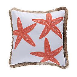 Levtex Home Bakio Starfish Square Throw Pillow in White