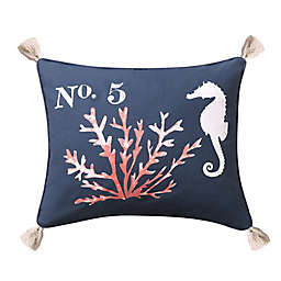 Levtex Home Bakio Coral Oblong Throw Pillow in Navy