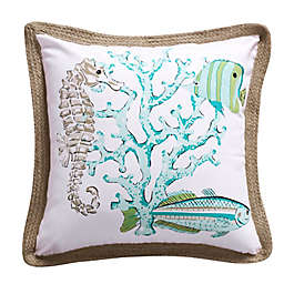Levtex Home Calafel Square Throw Pillow in White