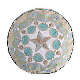 Levtex Home Calafel Round Throw Pillow in Natural/Teal