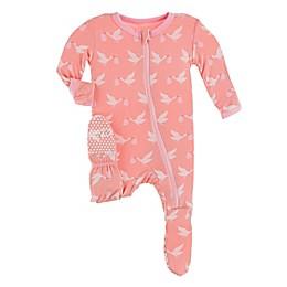 KicKee Pants® Stork Footie Pajama in Blush