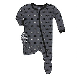 KicKee Pants® Spiders Footie Pajama in Black