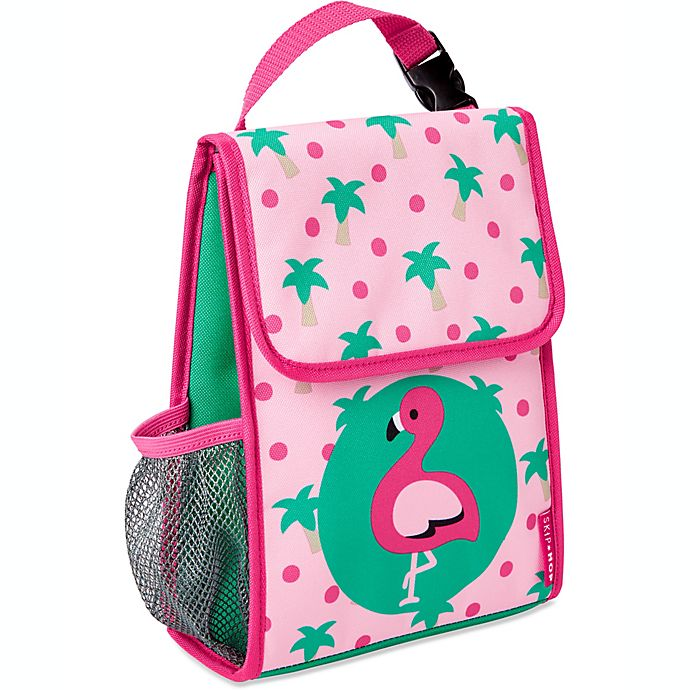 Alternate image 1 for SKIP*HOP® Zoo Flamingo Insulated Lunch Bag in Pink