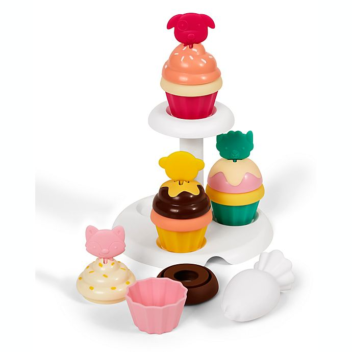 Alternate image 1 for SKIP*HOP® ZOO 18-Piece Sort and Stack Cupcake Set