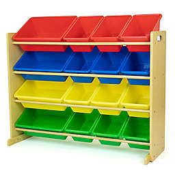 Humble Crew Multi-Colored Toy Organizer with 16 Storage Bins