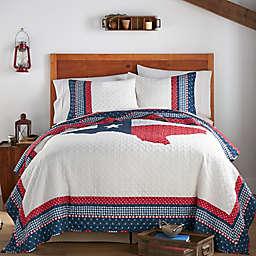 Levtex Home Texas Flag 3-Piece Reversible Quilt Set