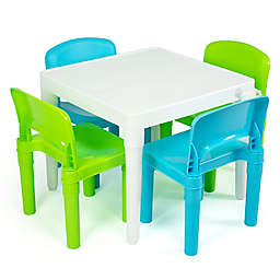 Humble Crew Kids Plastic Table and Chair Set with Storage Bag