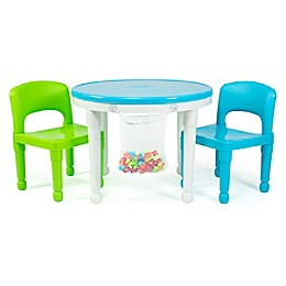 Humble Crew Kids Activity Table Set with 100 Building Blocks