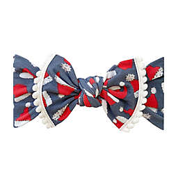 Baby Bling One Size Ho Ho Trimmed Printed Knot Headband