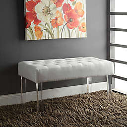 Home Elle Acrylic Leg Bench