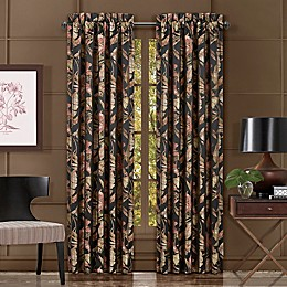 J. Queen New York™ Martinique 2-Pack 84-Inch Rod Pocket Window Curtain Panels in Black
