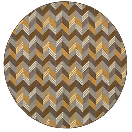Alternate image 1 for Cabana Bay Baltic Amherst Indoor/Outdoor 7'10 Round Woven Round in Grey