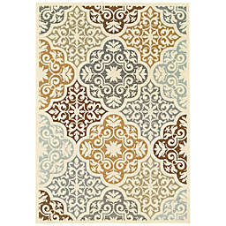 Cabana Bay Baltic Adair Indoor/Outdoor Rug in Ivory
