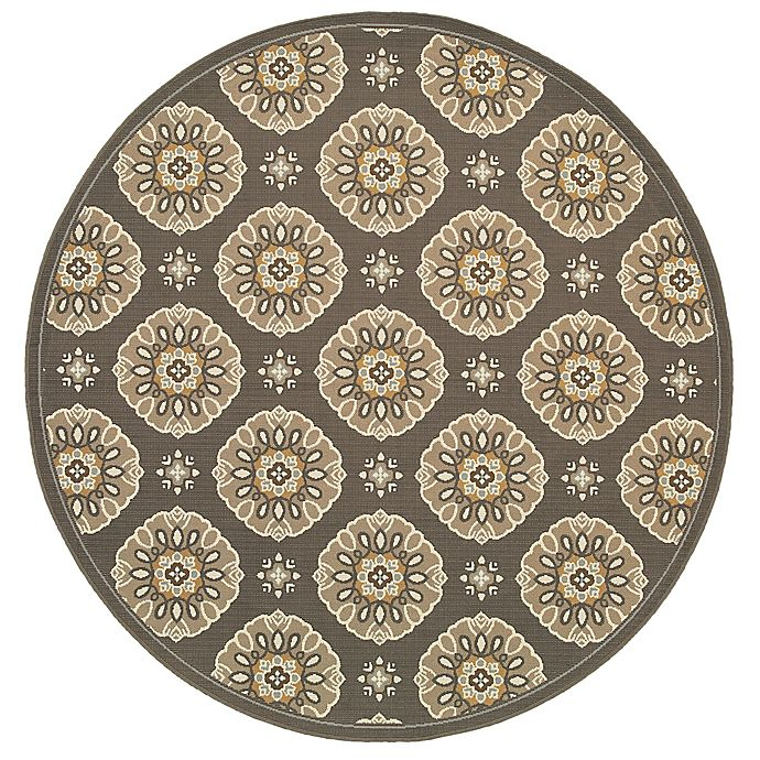 Alternate image 1 for Cabana Bay Baltic Baird Indoor/Outdoor 7'10 Round Woven Round in Grey
