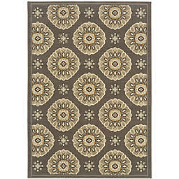 Cabana Bay Baltic Baird Indoor/Outdoor Rug in Grey