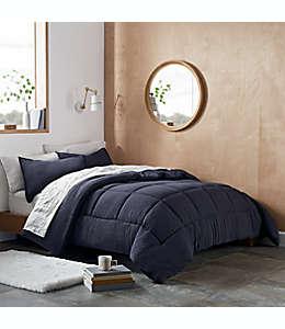 Set de edredón matrimonial/queen de poliéster UGG® Devon color azul marino
