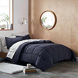 UGG® Devon 2-Piece Reversible Twin/Twin XL Comforter Set in Navy