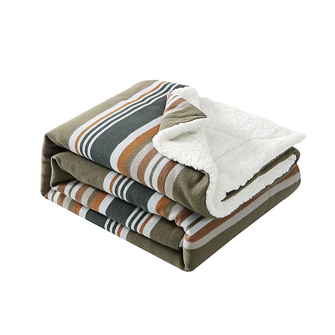 Alternate image 1 for Pendletton® Sanford Stripe Throw Blanket in Capers