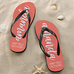 Scripty Style Personalized Adult Flip Flops