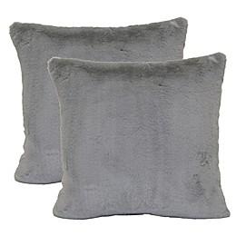 Wamsutta Faux Fur Square Throw Pillows (Set of 2)