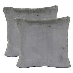 Wamsutta Faux Fur Square Throw Pillows (Set of 2)