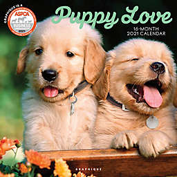 Graphique® de France Puppy Love 2021 Wall Calendar