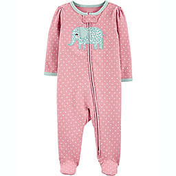 carters® Size 6M Elephant 2-Way Zip Sleep & Play in Pink
