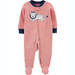 carters® Size 3M Lion 2-Way Zip Sleep & Play in Orange Stripe