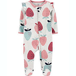 carters® Size 3M Strawberry 2-Way Zip Sleep & Play in Ivory