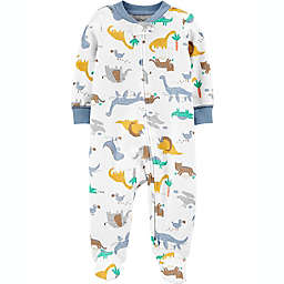 carters® Size 6M Dinoasaurs 2-Way Zip Sleep & Play in Ivory