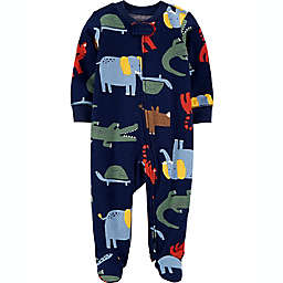 carters® Newborn Animals 2-Way Zip Sleep & Play in Blue