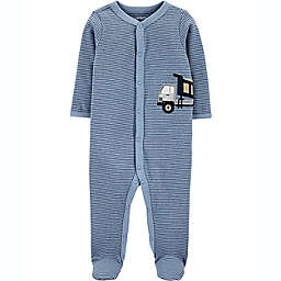 carters® Size 3M Construction Snap-Up Sleep & Play in Blue