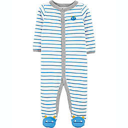 carters® Newborn Monster Snap-Up Sleep & Play in Blue