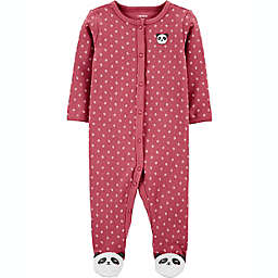 carters® Size 9M Panda Snap-Up Sleep & Play in Burgundy