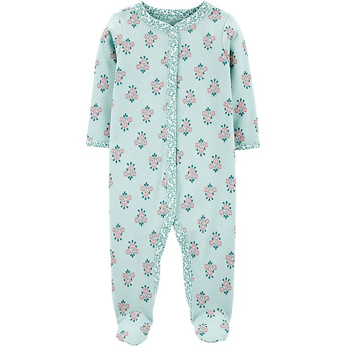 Alternate image 1 for carters® Size 6M Floral Snap-Up Sleep & Play in MInt