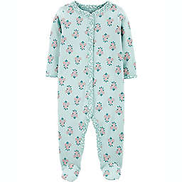 carters® Size 3M Floral Snap-Up Sleep & Play in MInt