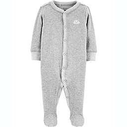 carter's® Size 3M Cloud Snap-Up Thermal Sleep & Play Footie in Grey