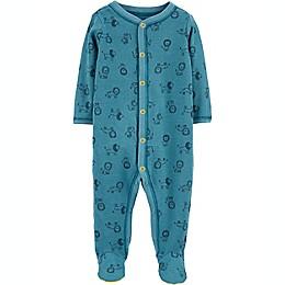 carter's® Lion Snap-Up Thermal Sleep & Play Footie in Teal