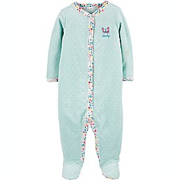 carter's® Butterfly Snap-Up Sleep & Play Footie in Mint