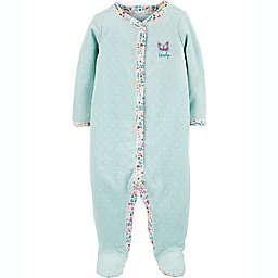 carter's® Newborn Butterfly Snap-Up Sleep & Play Footie in Mint