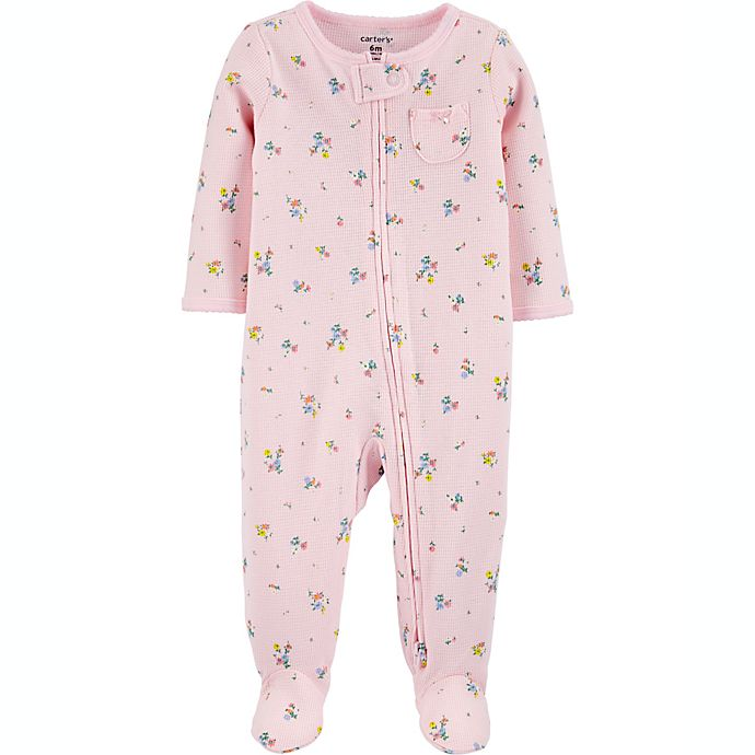 Alternate image 1 for carters® Floral 2-Way Zip Thermal Sleep & Play