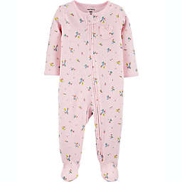 carters® Size 3M Floral 2-Way Zip Thermal Sleep & Play in Pink