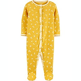 carters® Floral Snap-Up Sleep & Play in Yellow