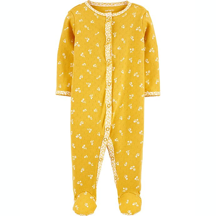 Alternate image 1 for carters® Size 6M Floral Snap-Up Sleep & Play in Yellow