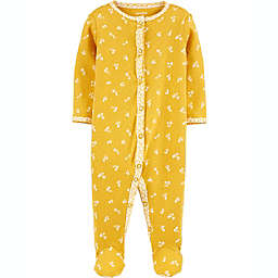 carters® Size 3M Floral Snap-Up Sleep & Play in Yellow