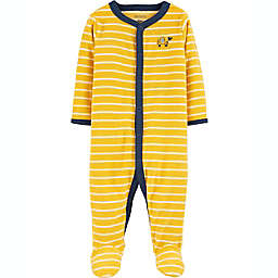 carter's® Size 3M Construction Snap-Up Sleep & Play Footie in Yellow
