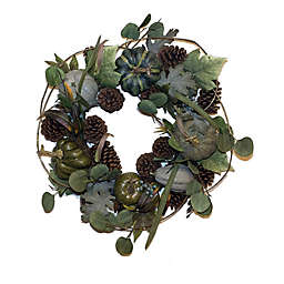 Bee & Willow™ 26-Inch Deluxe Harvest Pumpkin Wreath in Green