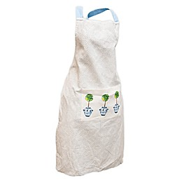 Boston International Blue Topiary Apron