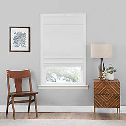 MyHome 33-Inch x 64-Inch Cordless Blackout Roman Shade in White