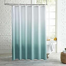 Peri Home Ombre Microsculpt Shower Curtain in Aqua